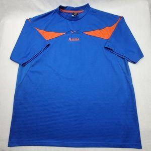 Mens Nike Florida Gators Dri-Fit blue orange shirt